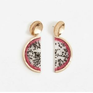 Mango statement fruit earrings